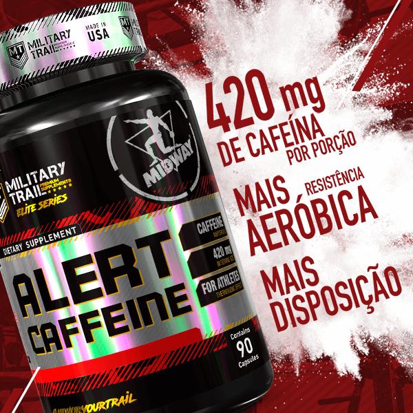 Alert Caffeine 90 cápsulas  Sem sabor