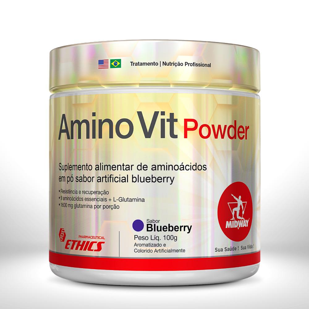AMINO VIT POWDER 100 g  Blueberry