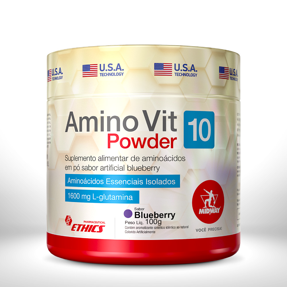 AMINO VIT POWDER 100 g  Blueberry
