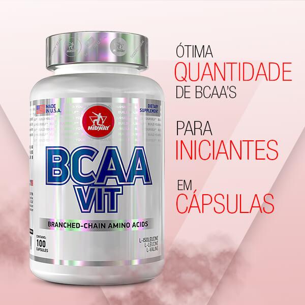 BCAA Vit 100 cápsulas  Sem sabor