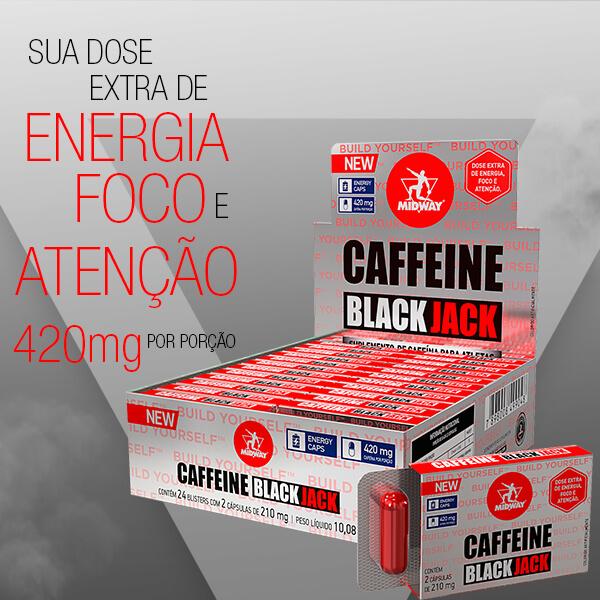 Caffeine Black Jack Caps 24 Blisters  Sem sabor