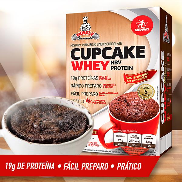 Cupcake Whey 350g  Chocolate