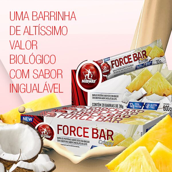 Force Bar Crispy Display com 3 UND  Abacaxi com Coco