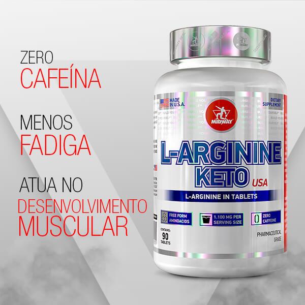 L-Arginine Keto 90 tablets  Sem sabor