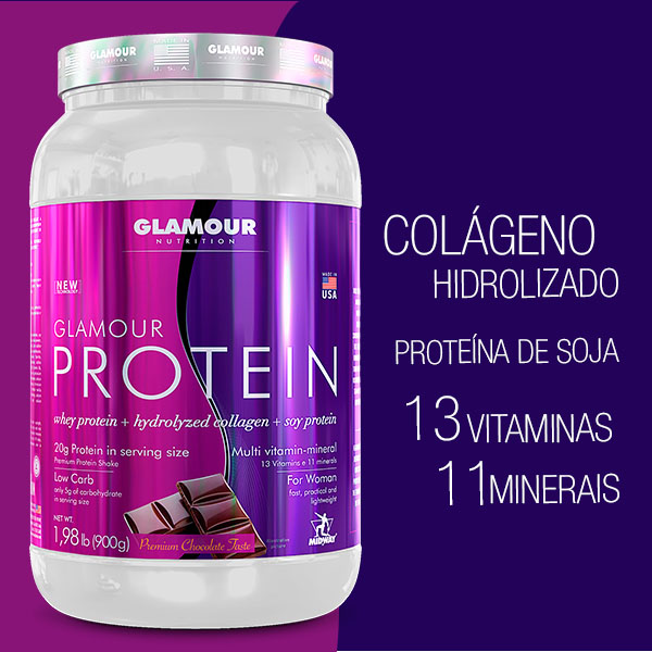 Glamour Protein 900g  Chocolate