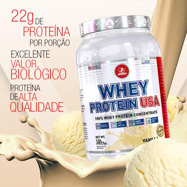 Whey Protein USA 907g  Baunilha