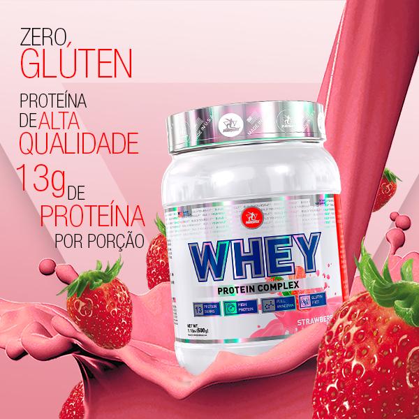 Whey Protein Complex 500g  Morango