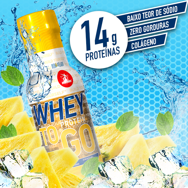 Whey to GO 300ml  Abacaxi com Hortelã