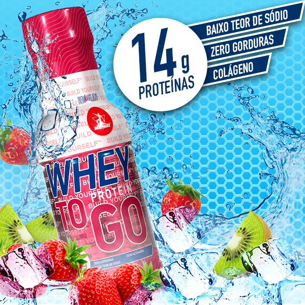Whey to GO 300ml  Morango e Kiwi