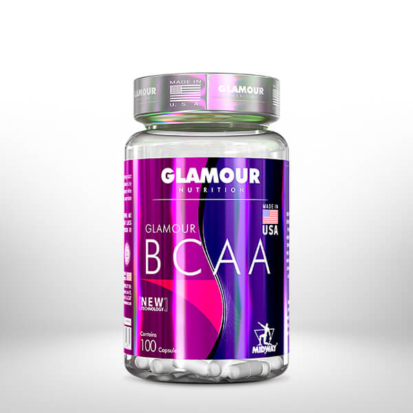 BCAA Glamour 100 cápsulas  Sem sabor