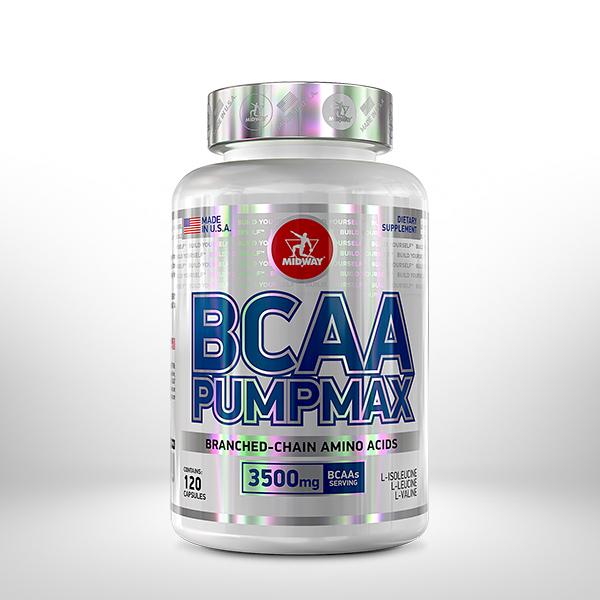 BCAA Pumpmax 120 cápsulas  Sem sabor