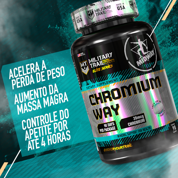 Chromium Way 90 tablets  Sem sabor