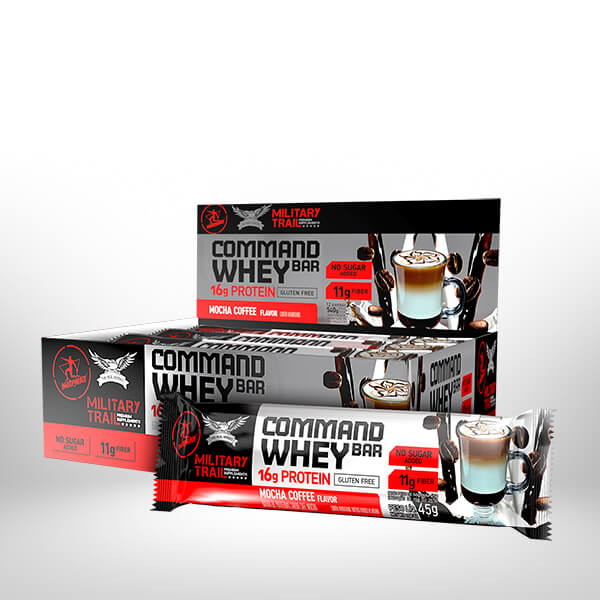 Command Whey Bar Display com 12 UND  Mocha Coffee