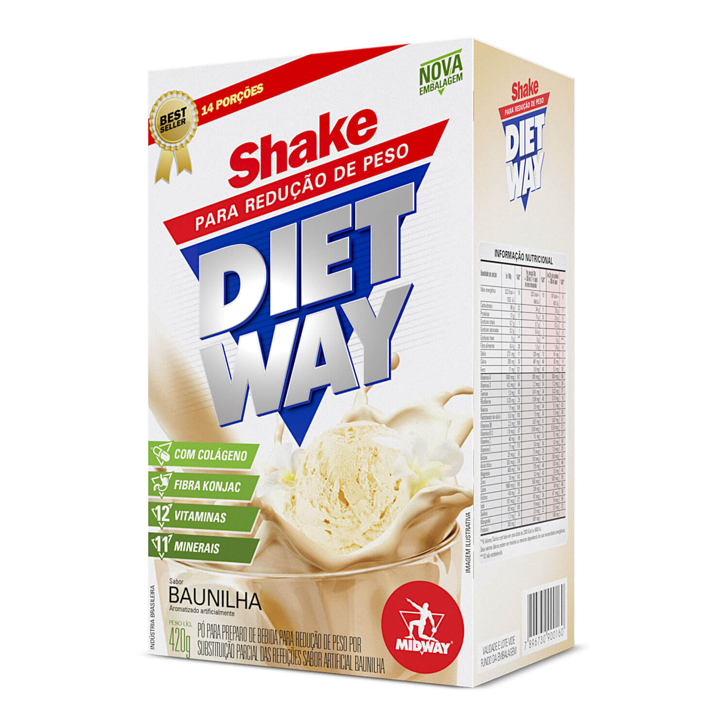 Diet Way 420 g  Baunilha