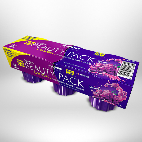 Glamour Beauty Pack Jello 3 UND  Grape