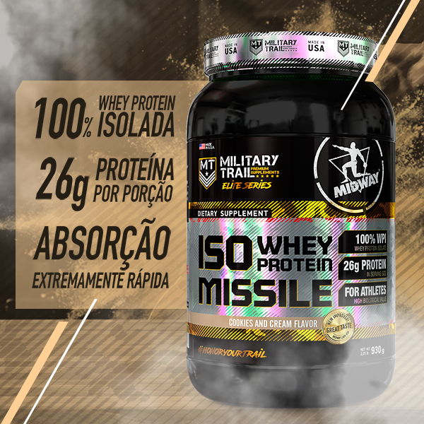 Iso Whey Protein Missile 930g  Cookies and Cream