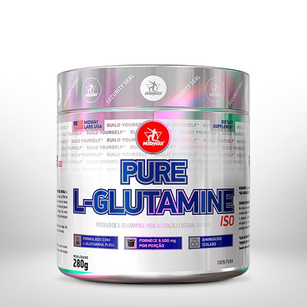 Pure L-Glutamine 280g  Sem sabor