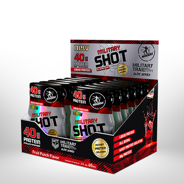 Military Shot Display  12 x 60 ml  Fruit punch