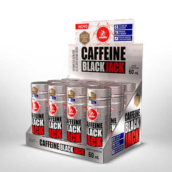 Caffeine Black Jack shot Display 12 x 60ml  Guaraná com Açaí
