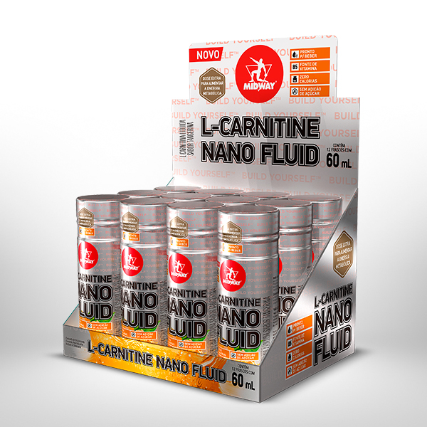 L-Carnitine Nano Fluid Display com 12 UND de 60ml  Tangerina