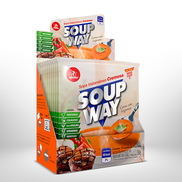 Soup Way Display 10 x 15g  Carne com Legumes