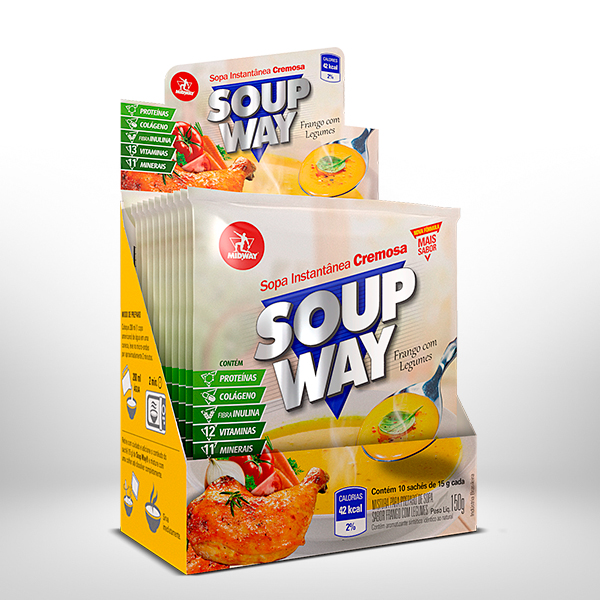 Soup Way Display 10 x 15g  Frango com Legumes