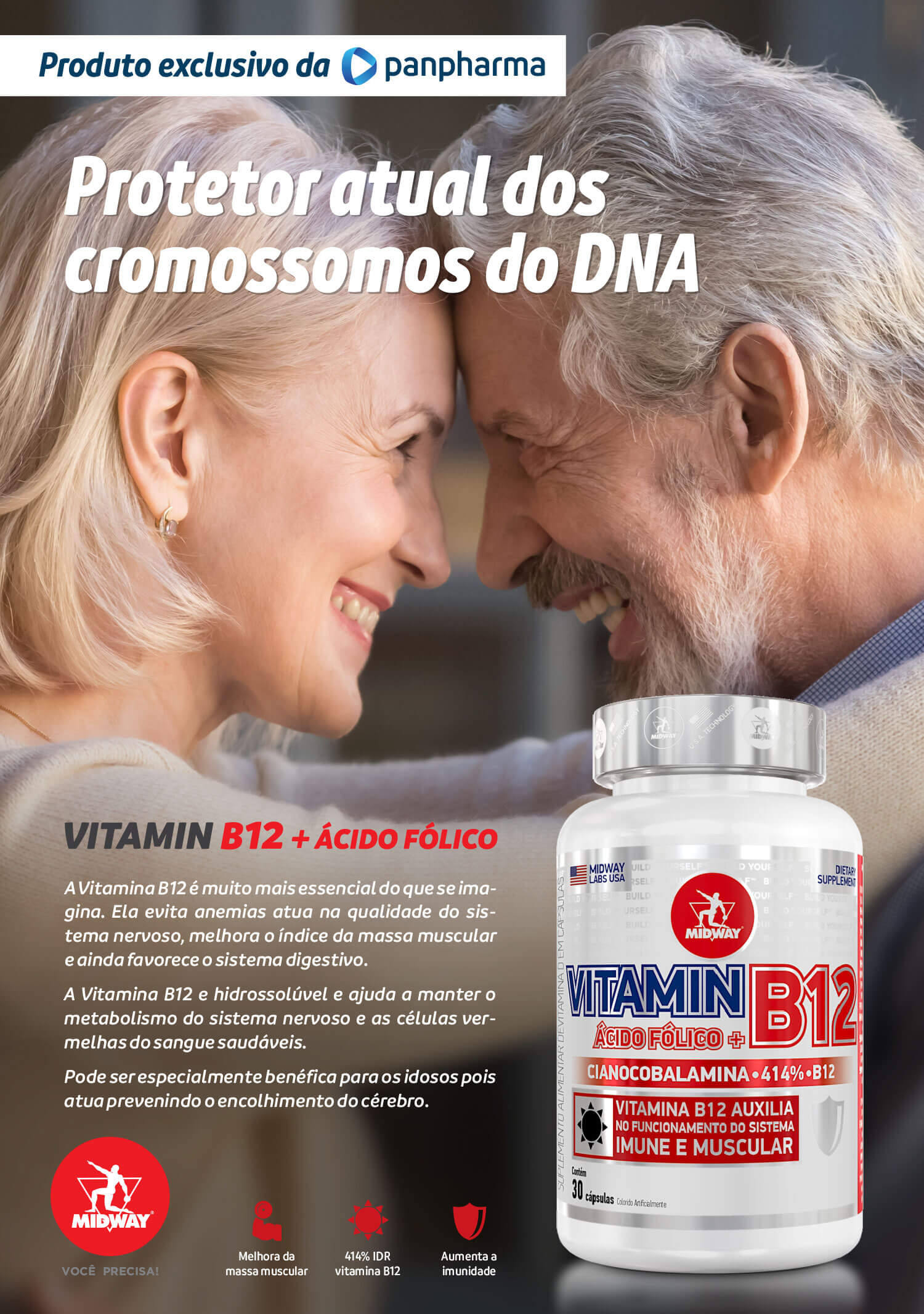 Vitamin B12 + Ácido Fólico