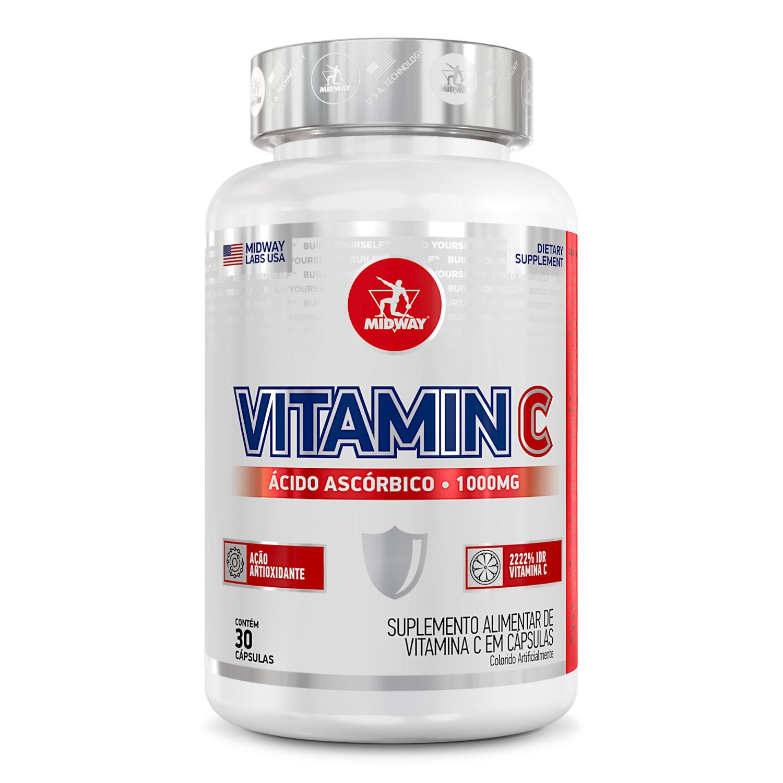 Vitamin C 30 cápsulas  Sem sabor