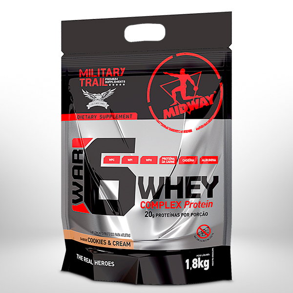 War 6 Protein Complex 1,8Kg  Cookies and Cream