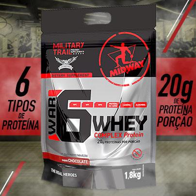 War 6 Protein Complex 1,8Kg  Chocolate