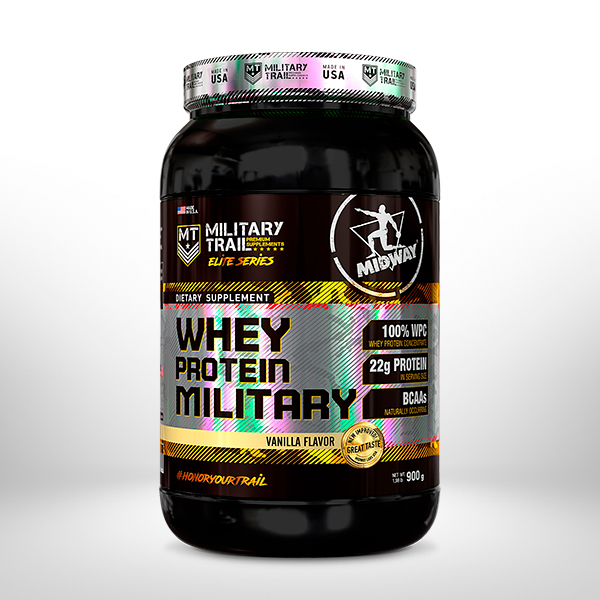 Whey Protein Military 900g  Baunilha