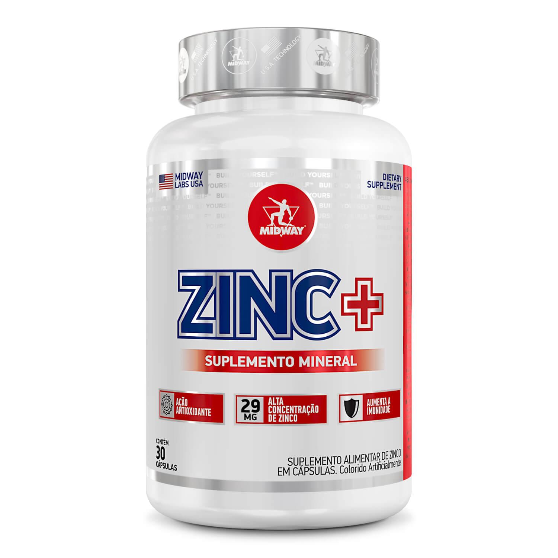 Zinc+ 30 cápsulas  Sem sabor